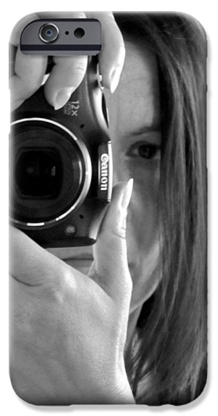 Soul-searching - Self-portrait IPhone Case by Marianna Mills