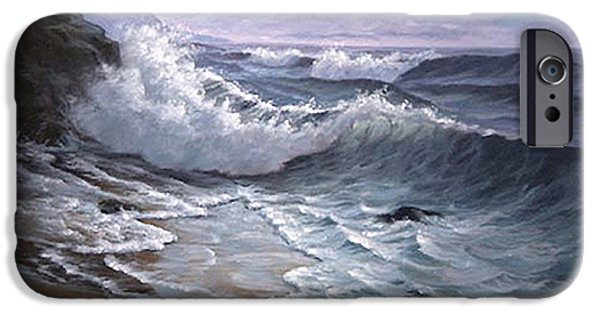 Sounding Waves At Big Sur IPhone Case by Del Malonee