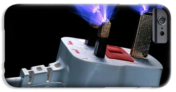 Sparks Flying From Plug IPhone Case by Adam Hart-davis
