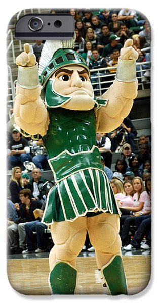 Sparty At Basketball Game  IPhone 6s Case by John McGraw