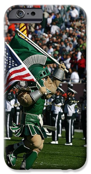 Sparty At Football Game IPhone 6s Case by John McGraw