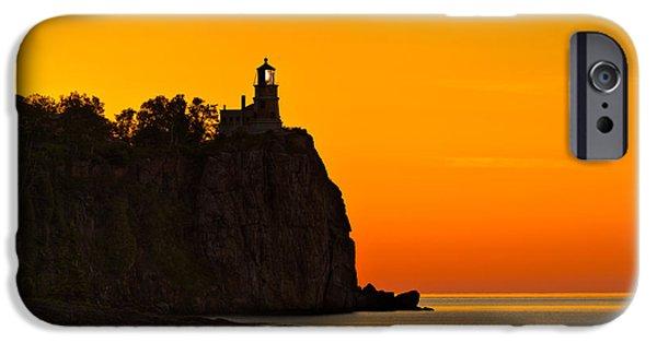 Split Rock Lighthouse IPhone Case by Steve Gadomski