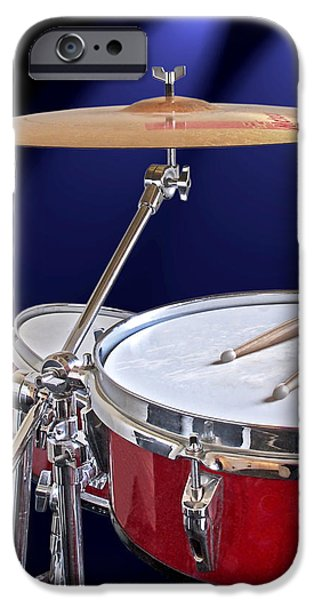 Spotlight On Drums IPhone Case by Gill Billington