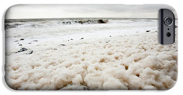 Spume From Storm Waves IPhone Case by Ashley Cooper