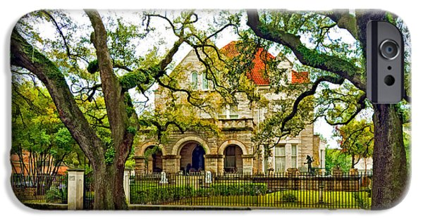 St. Charles Ave. Mansion Paint IPhone Case by Steve Harrington