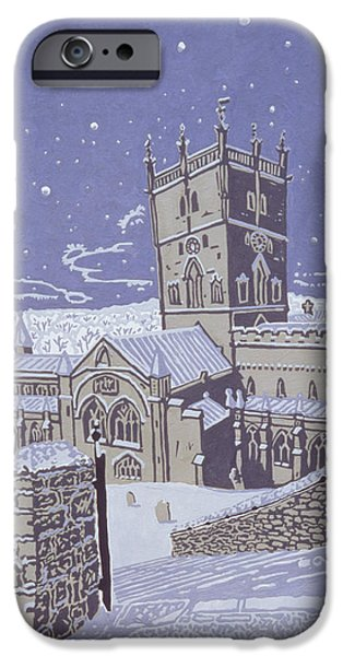St David S Cathedral In The Snow IPhone Case by Huw S Parsons