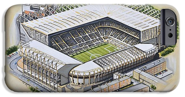 St  James Park - Newcastle United IPhone Case by D J Rogers