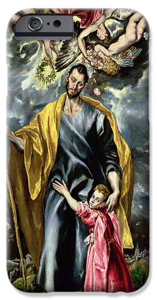 Saint Joseph And The Christ Child IPhone Case by El Greco