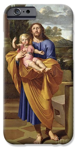 St. Joseph Carrying The Infant Jesus IPhone Case by Pierre  Letellier