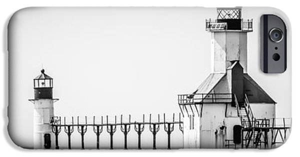 St. Joseph Lighthouses Panorama Picture IPhone Case by Paul Velgos