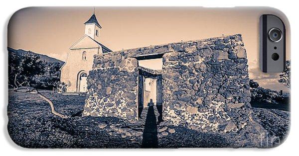 St. Josephs Church Maui Hawaii IPhone Case by Edward Fielding