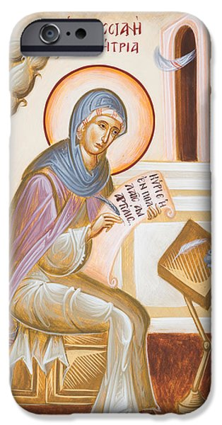 St Kassiani The Hymnographer IPhone Case by Julia Bridget Hayes