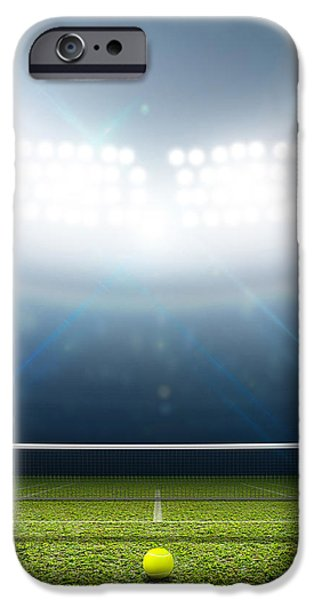 Stadium And Tennis Court IPhone Case by Allan Swart