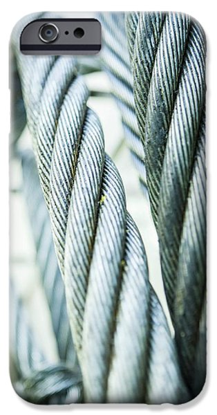Stainless Steel Ropes IPhone Case by Gustoimages