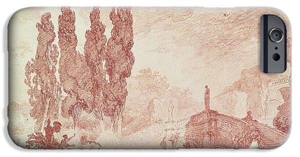 Staircase In The Gardens Of The Villa Deste, Tivoli IPhone Case by Jean-Honore Fragonard