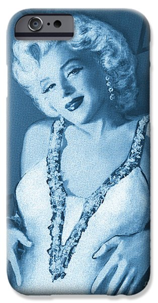 Star Of Wife Blue IPhone Case by Theo Danella