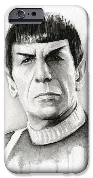 Star Trek Spock Portrait IPhone Case by Olga Shvartsur