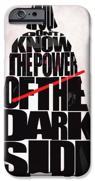Star Wars Inspired Darth Vader Artwork IPhone Case by Ayse Deniz
