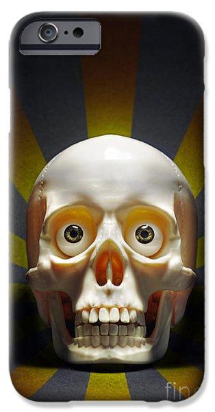 Staring Skull IPhone Case by Carlos Caetano