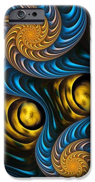 Starry Night - Fractal Art IPhone Case by Anastasiya Malakhova