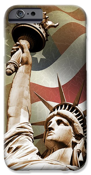 Statue Of Liberty IPhone 6s Case by Mark Rogan