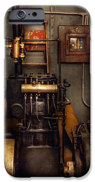 Steampunk - Back In The Engine Room IPhone Case by Mike Savad
