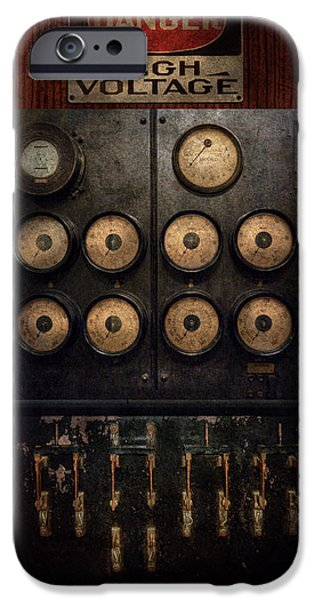 Steampunk - Electrical - Center Of Power IPhone Case by Mike Savad