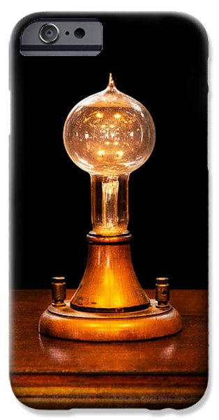 Steampunk - Electricity - Bright Ideas  IPhone Case by Mike Savad