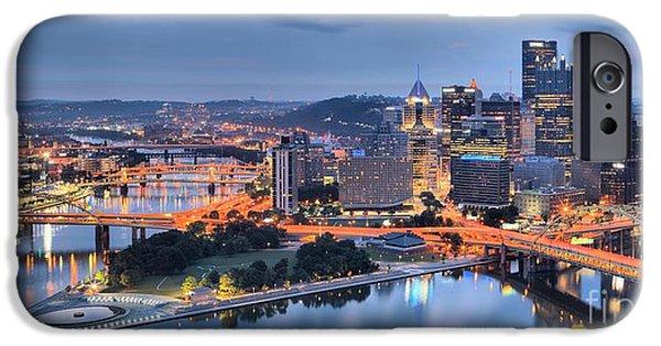 Steel City Glow IPhone Case by Adam Jewell