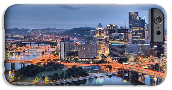 Steel City Panorama IPhone Case by Adam Jewell
