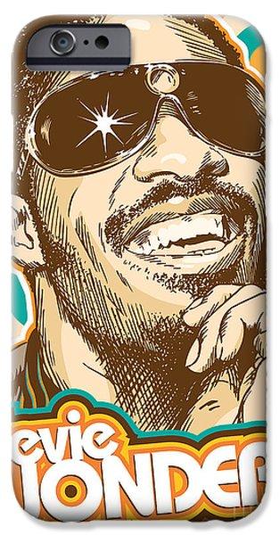 Stevie Wonder Pop Art IPhone 6s Case by Jim Zahniser