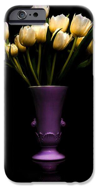 Still Life - White Tulips IPhone Case by Jon Woodhams