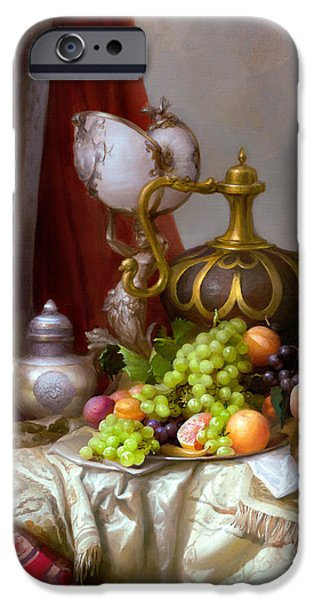 Still-life With A Glass Of Dutch IPhone Case by Sevrukov