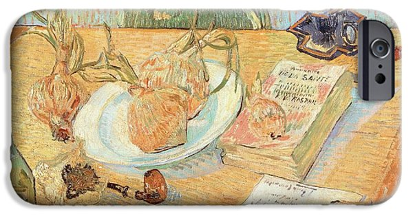 Still Life With Onions IPhone Case by Vincent van Gogh