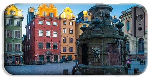 Stockholm Stortorget IPhone Case by Inge Johnsson