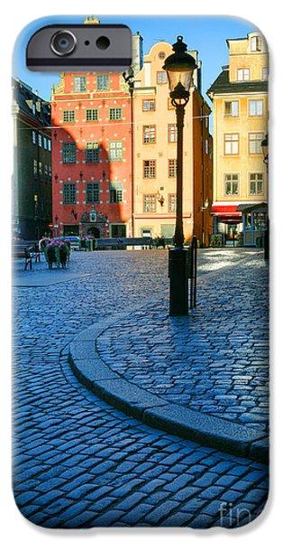 Stockholm Stortorget Square IPhone Case by Inge Johnsson