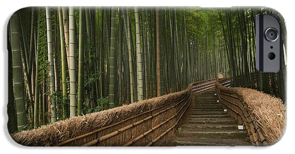 Stone Pathway In Bamboo Forest IPhone Case by Philippe Widling
