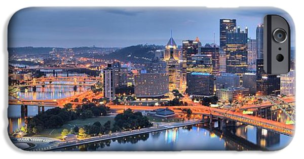 Stormy Morning Skies Over Pittsburgh IPhone Case by Adam Jewell