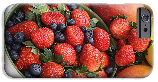 Strawberries Blueberries Mangoes And A Banana - Fruit Tray IPhone 6s Case by Andee Design