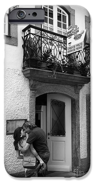 Street Romance In Portugal IPhone Case by James Brunker