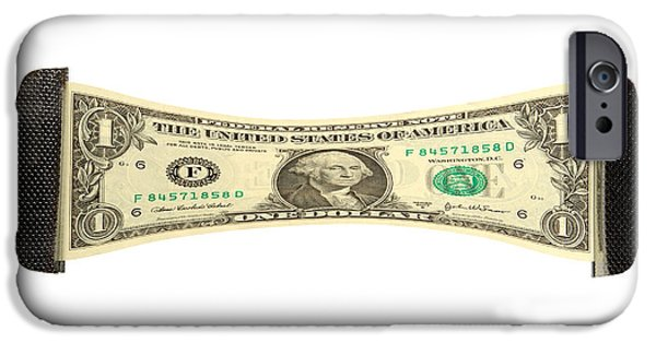 Stretching The Dollar IPhone Case by Olivier Le Queinec