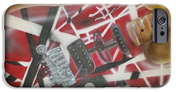 Striped Guitar IPhone Case by Phillip Whitehead