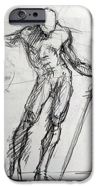 Study For St. Micheal IPhone Case by H James Hoff