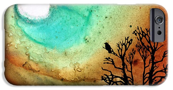 Summer Moon - Landscape Art By Sharon Cummings IPhone Case by Sharon Cummings