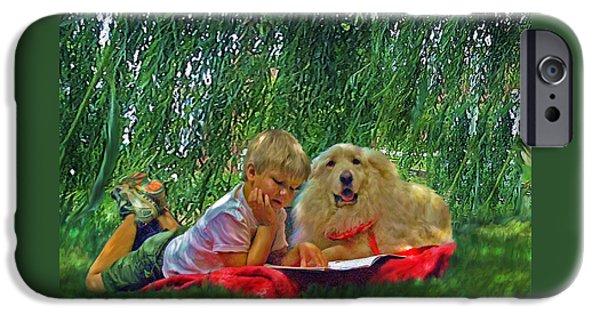 Summer Reading IPhone Case by Jane Schnetlage