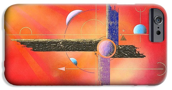 Sun On The Lying Cross IPhone Case by Franziskus Pfleghart