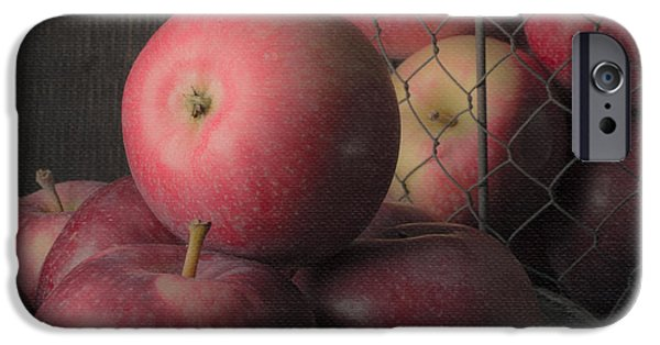 Sun Warmed Apples Still Life Square IPhone Case by Edward Fielding
