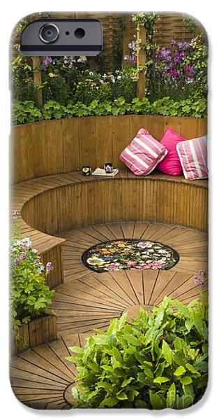 Sunken Garden IPhone Case by Anne Gilbert