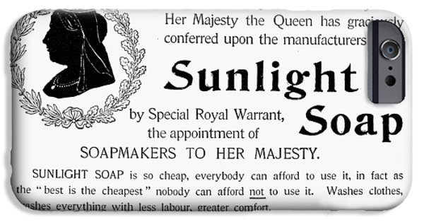 Sunlight Soap Ad, 1896 IPhone Case by Granger