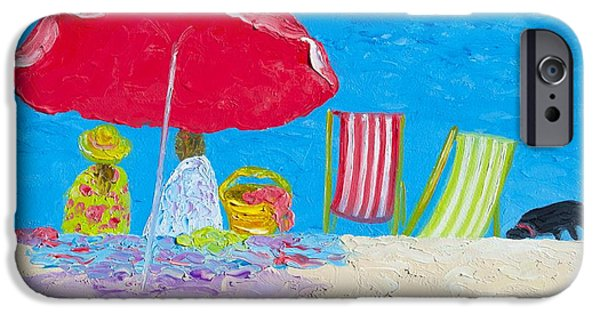 Sunny Afternoon At The Beach IPhone Case by Jan Matson